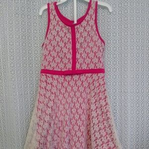 Pink and white summer dress